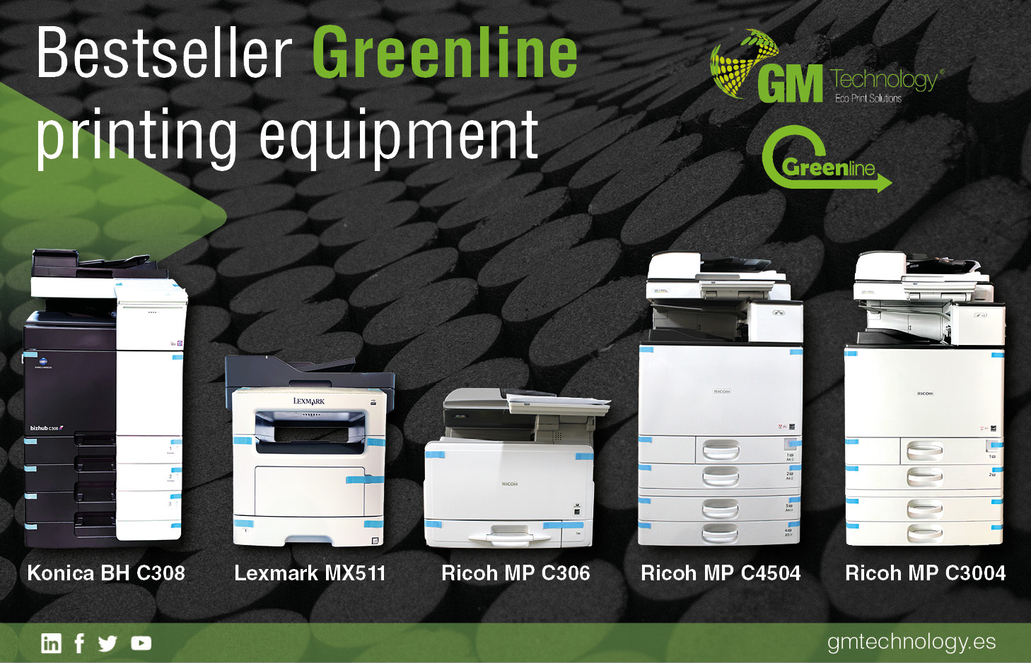 The 5 best-selling GreenLine remanufactured equipment