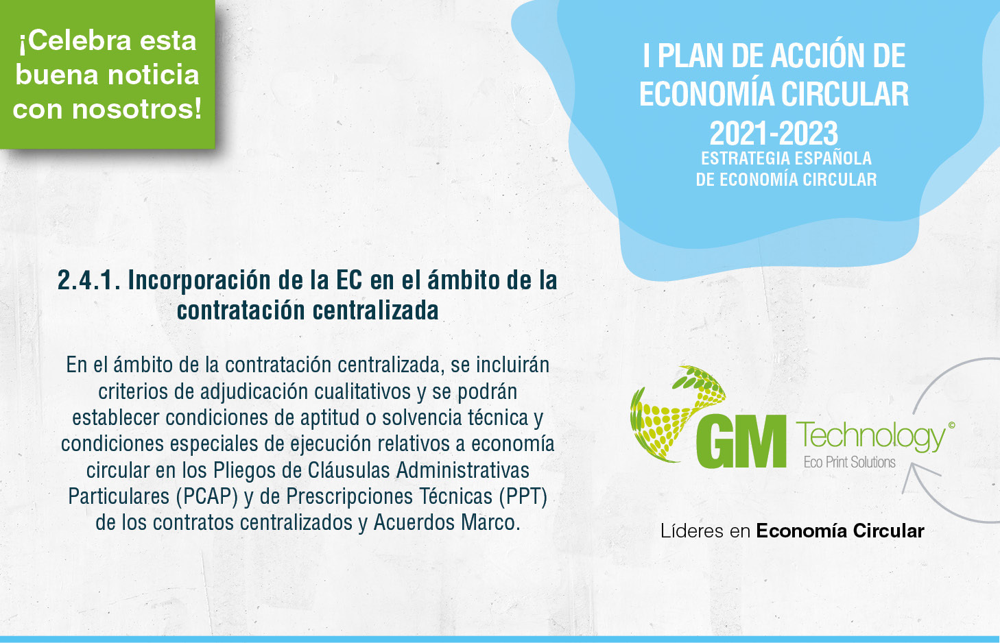 GM Technology celebra la aprobación del primer plan de acción para una transición efectiva hacia la Economía circular